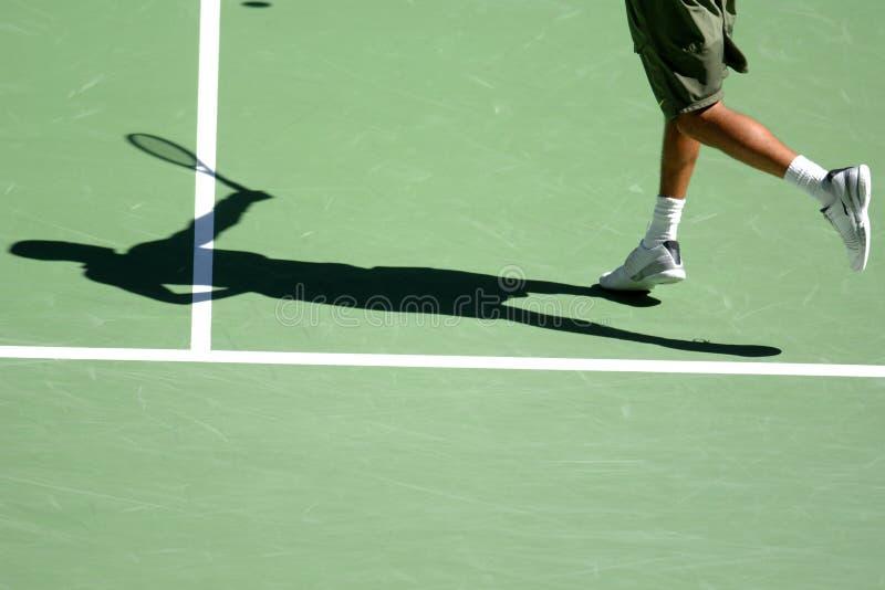 Tennisschatten 08 stockfotos