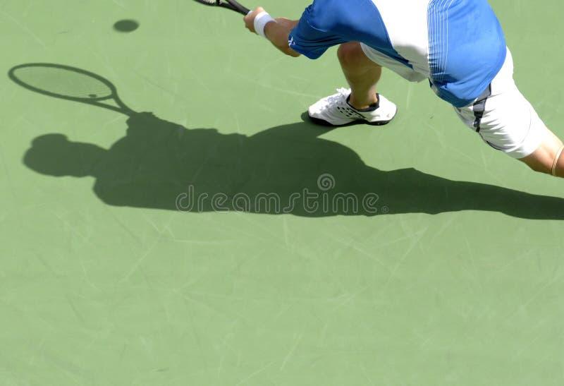 Tennisschatten 21 lizenzfreie stockfotos