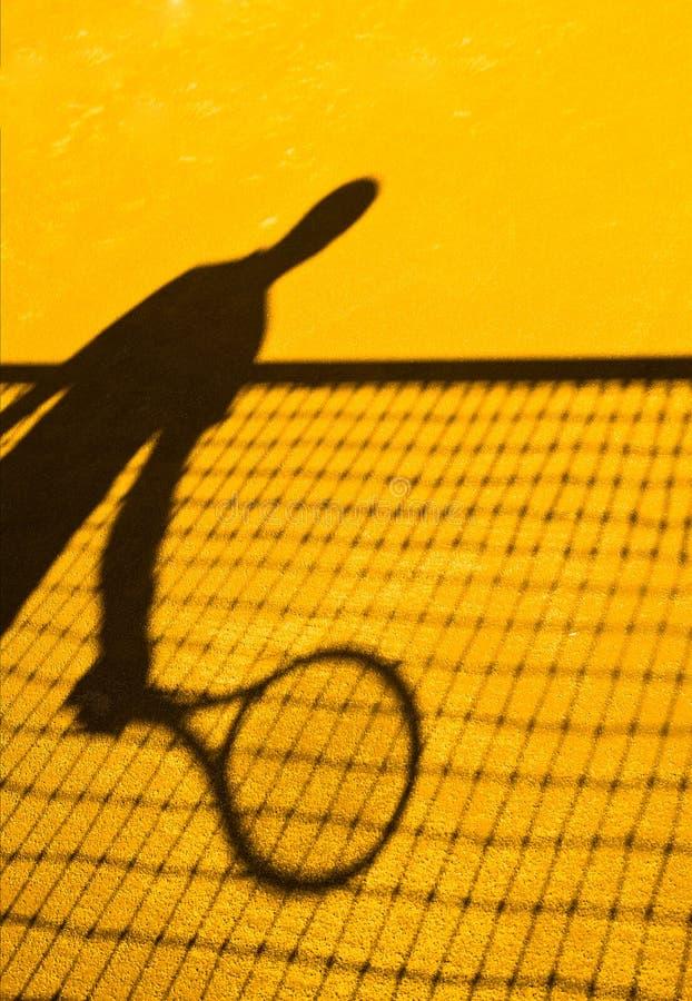 Tennisschattenzusammenfassung lizenzfreie stockfotos