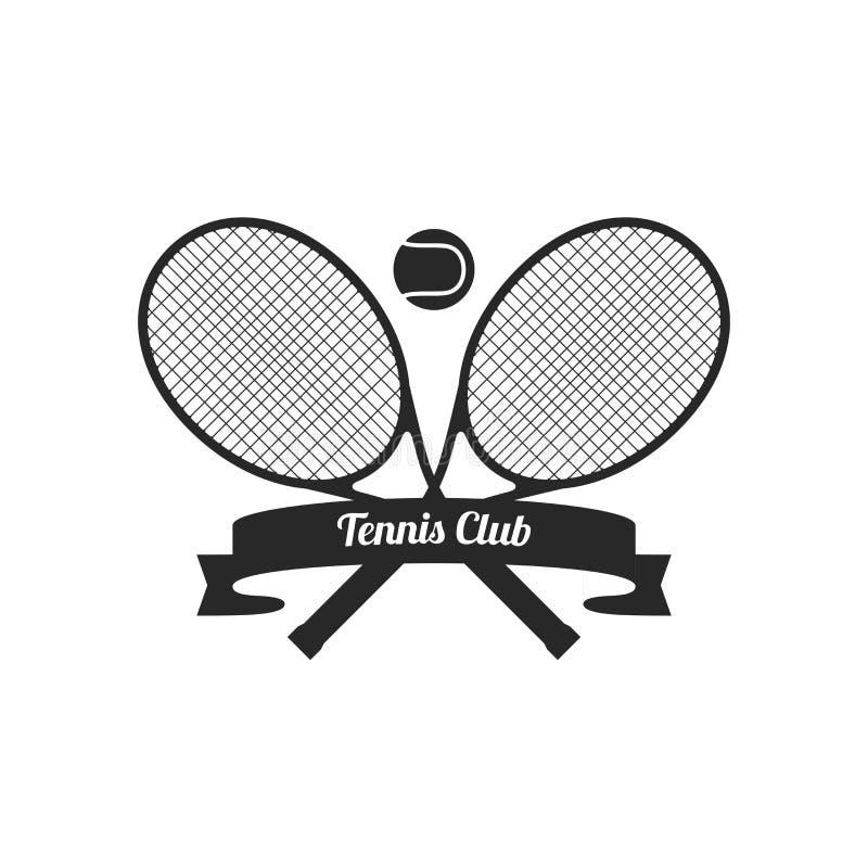 Tennisschl?ger mit Ball lizenzfreie abbildung