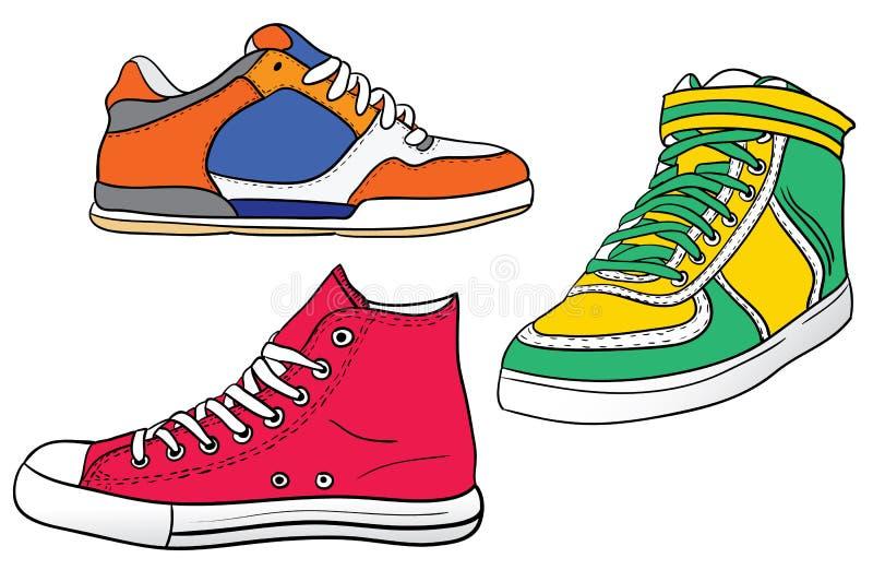 Tennisschoenen vector illustratie