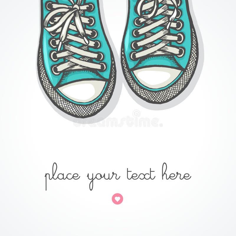 Tennisschoenen stock illustratie