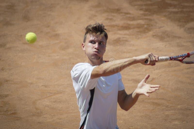 Tennisspelare på internationell turnering fotografering för bildbyråer