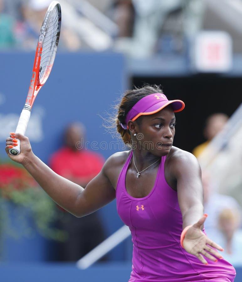Tennisspeler Sloane Stephens bij US Open 2013 royalty-vrije stock foto's
