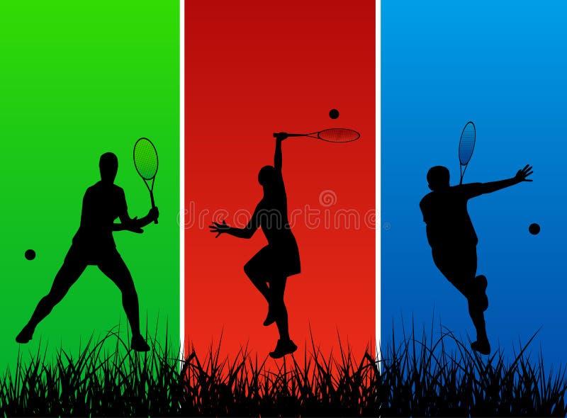 Tennisspieler lizenzfreie abbildung