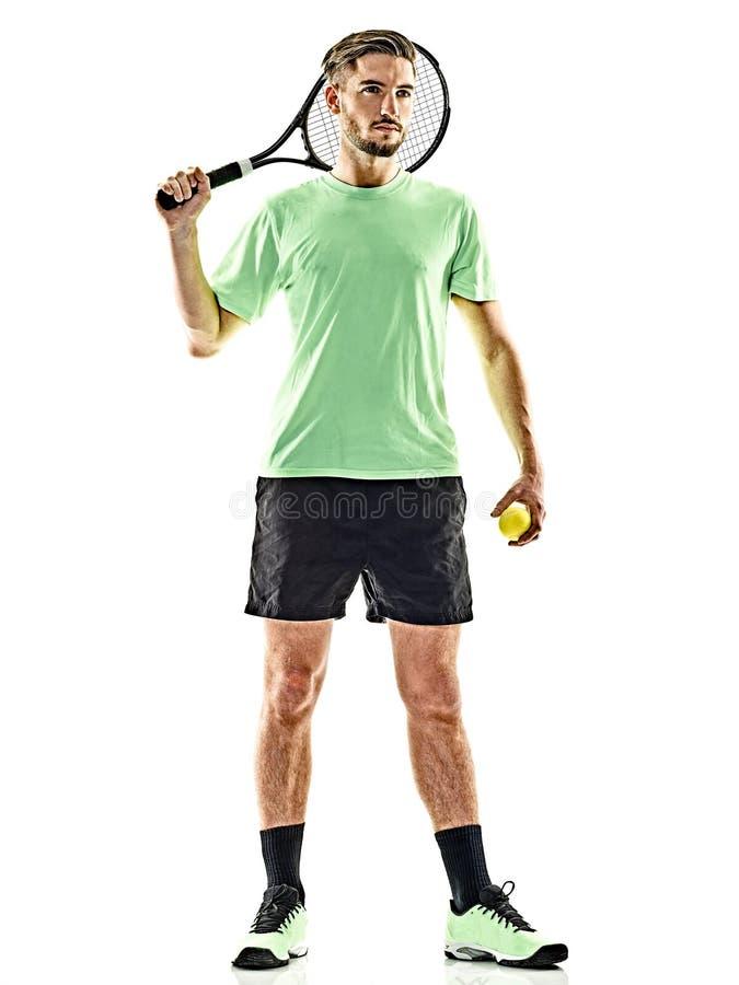 Tennisspielermann lokalisiert lizenzfreies stockbild