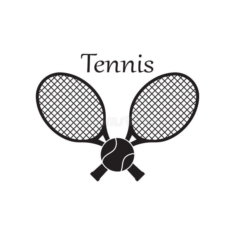 Tennissportlogo-Ikonenentwurf, Ausweisschablone stock abbildung