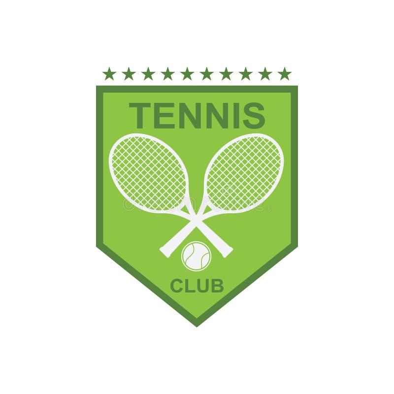 Tennissportlogo-Ikonenentwurf, Ausweisschablone lizenzfreie abbildung