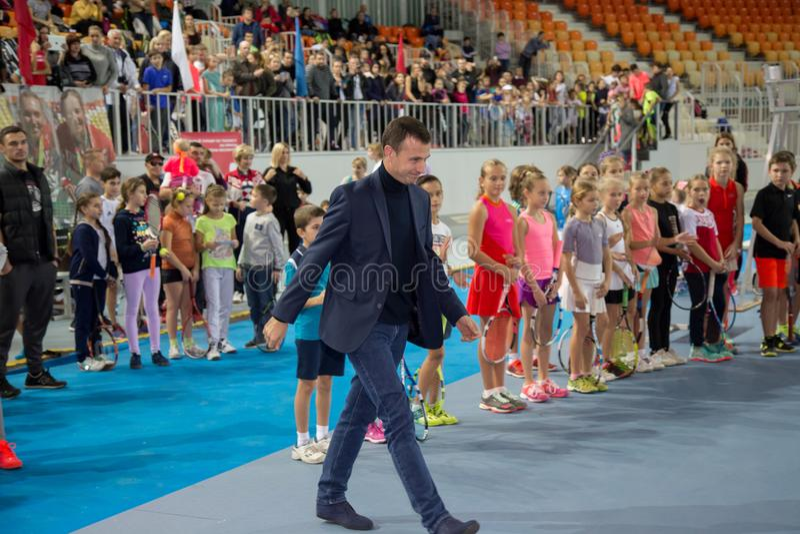 Download Tennistoernooien Voor Prijzen Van Elena Vesnina Redactionele Stock Foto - Afbeelding bestaande uit gelukwensen, sport: 107705023