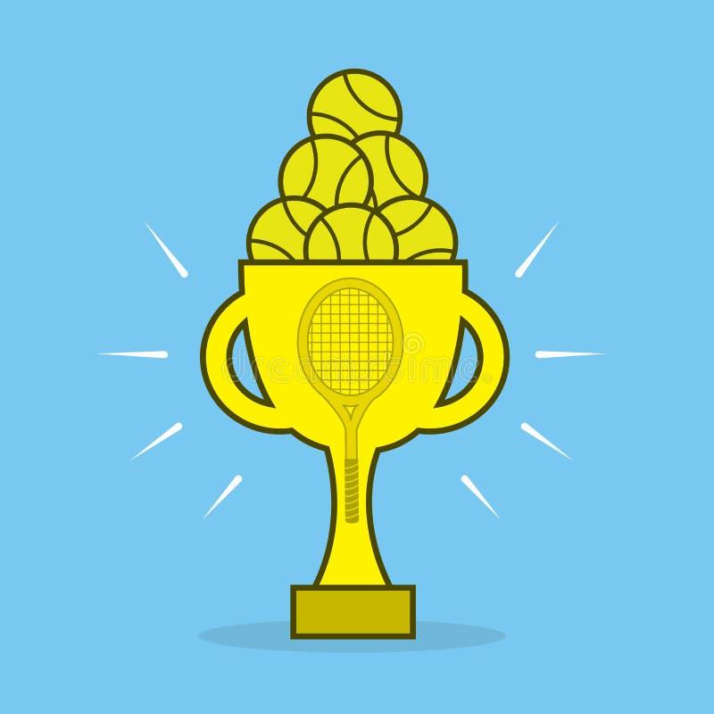 Tennisutmärkelse stock illustrationer