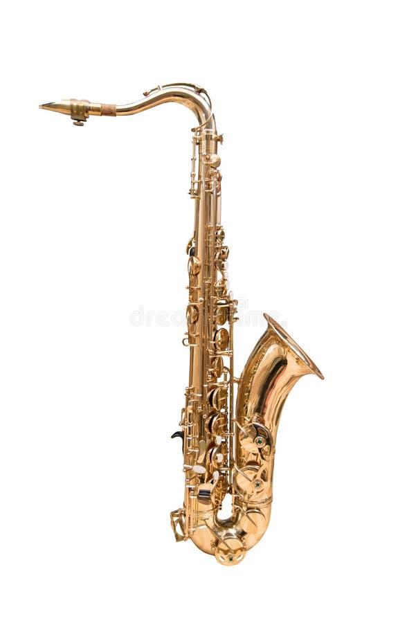 Tenor Saxophone. Isolated on a white background stock photos