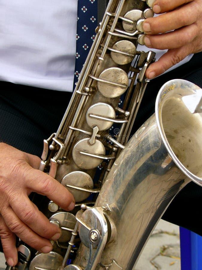 Tenorowy saksofon zdjęcia stock