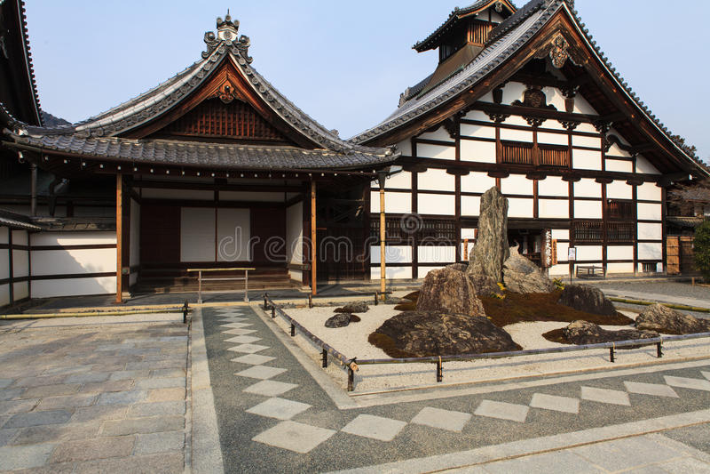 Tenryu-ji Zen Temple in Arashiyama. immagini stock libere da diritti