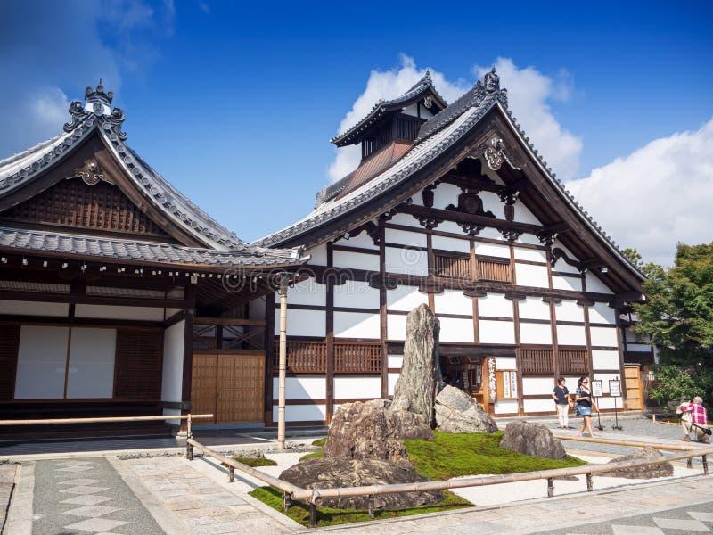 Tenryuji寺庙在Arashiyama,京都,日本 库存照片