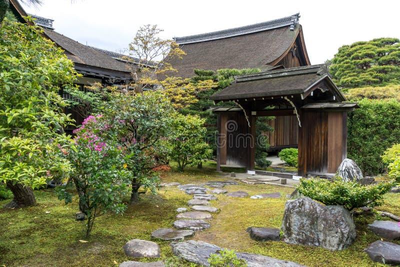 Tenryuji寺庙庭院 库存照片