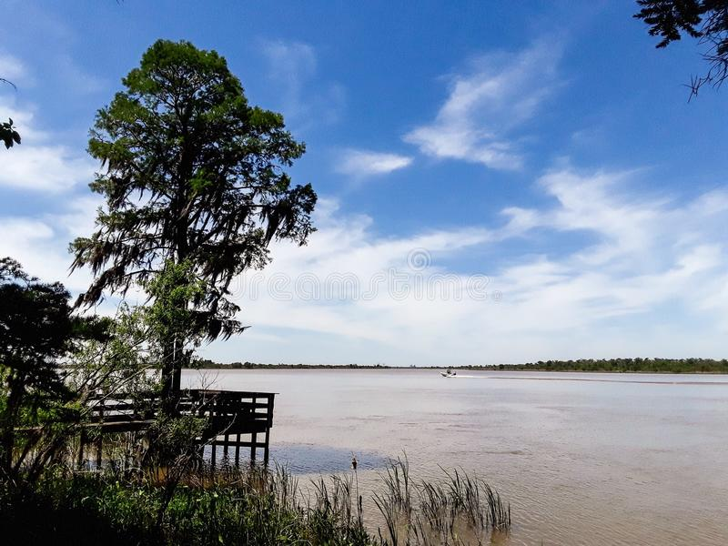 Tensaw River Delta at Blakeley State Park in Alabama. Tensaw River Delta at Blakeley State Park in Spanish Fort, Alabama stock photos