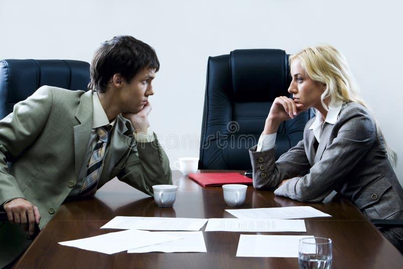 tense переговоров стоковое фото rf