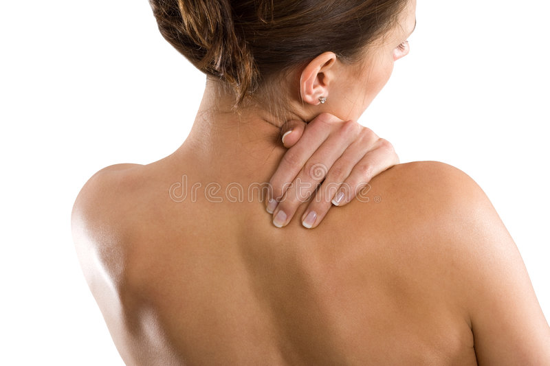 Tensed neck right royalty free stock images