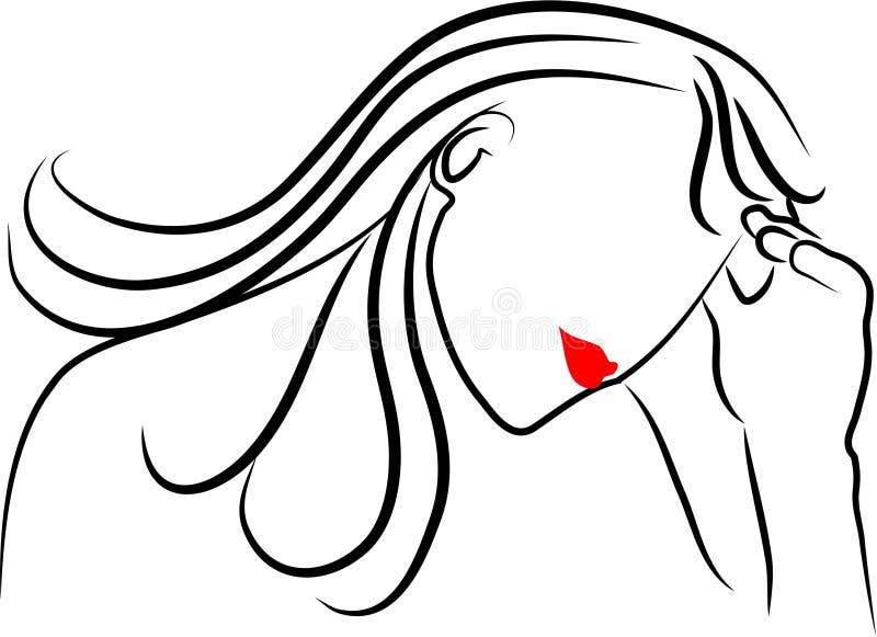 Tensión ilustración del vector