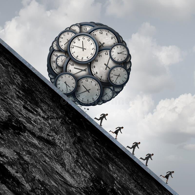 Tensión del plazo del negocio ilustración del vector