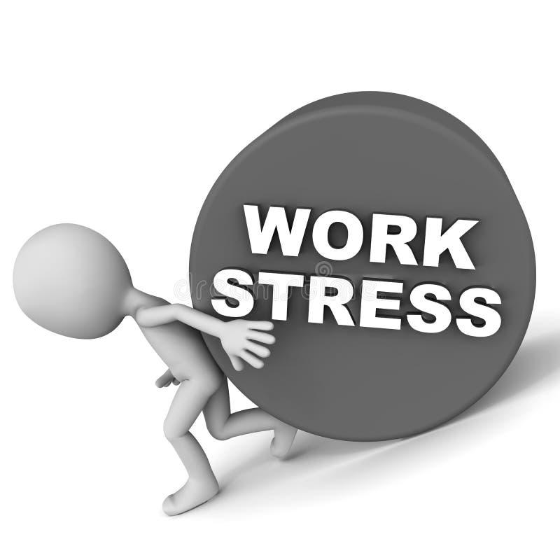 Tensión relacionada trabajo stock de ilustración