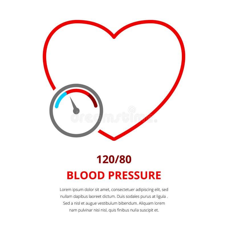 Tension artérielle 120 illustration stock