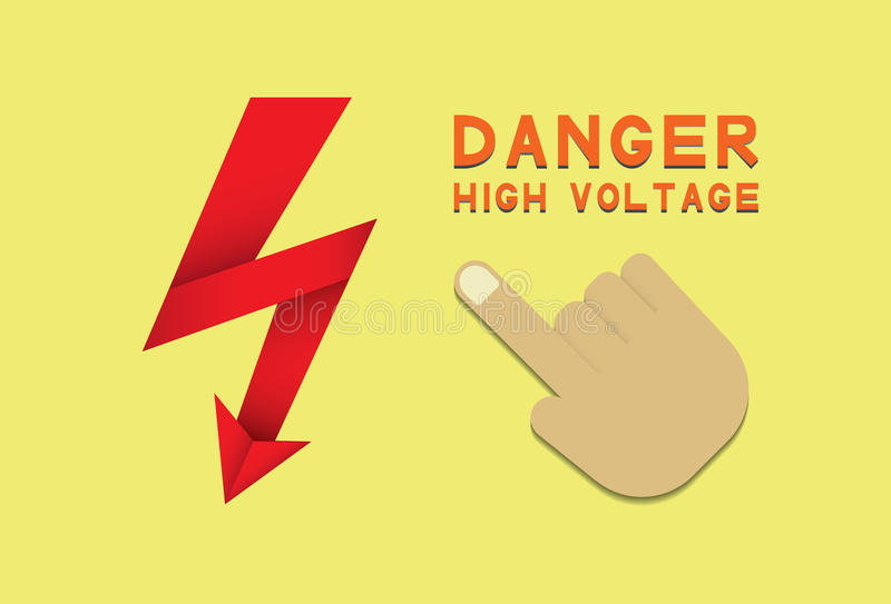 Tension de danger illustration stock