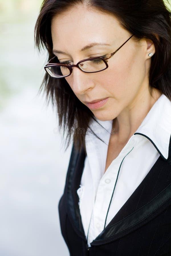 Tension de femme d'affaires photo libre de droits