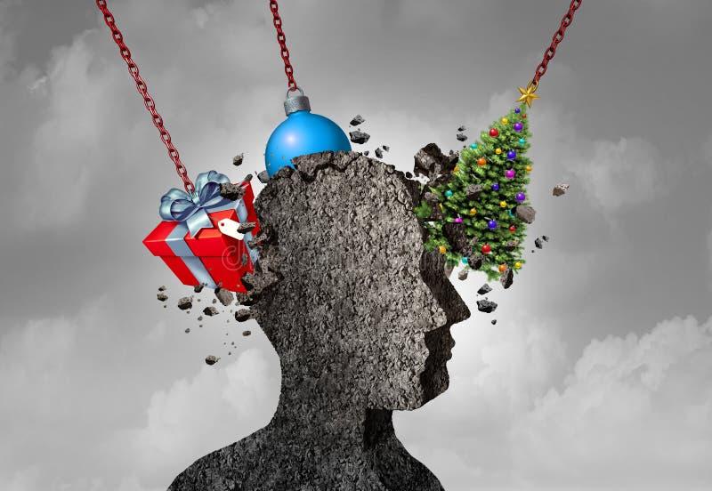 Tension mentale de mal de tête de vacances illustration libre de droits