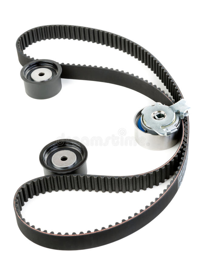 Download Tension Pulley And Timing Belt Stock Image - Image of path, brake: 23823791