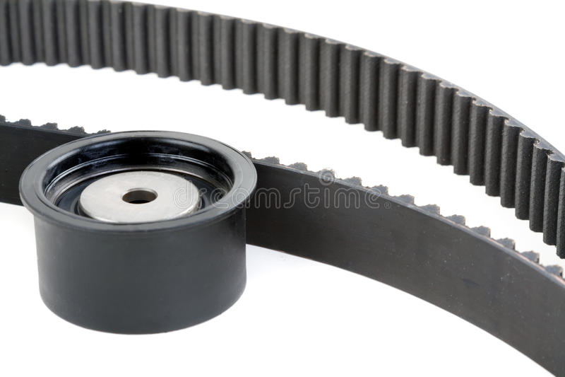 Download Tension Pulley And Timing Belt Stock Photo - Image: 23823804