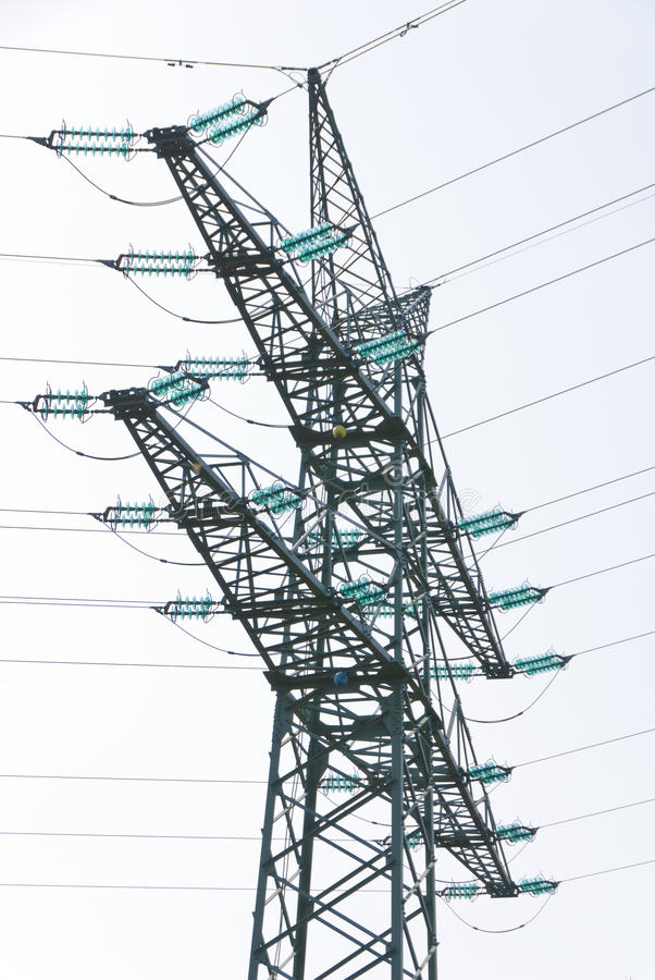 Download Tension Tower With Traverses Stock Image - Image: 24455323