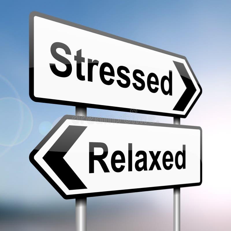 Tensionado o relajado. ilustración del vector