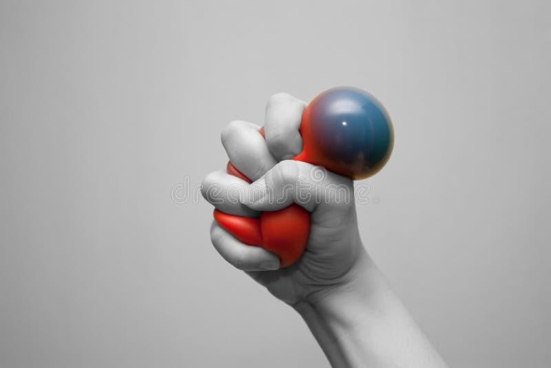 Tensionar la bola de la tensión imágenes de archivo libres de regalías