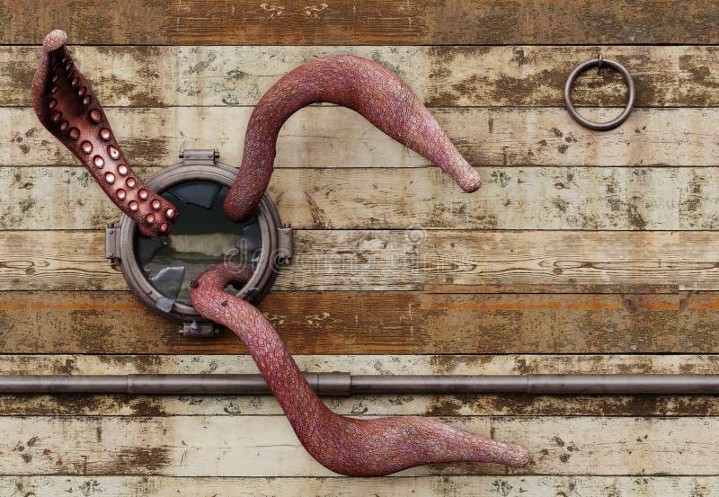 Tentáculos ilustração stock