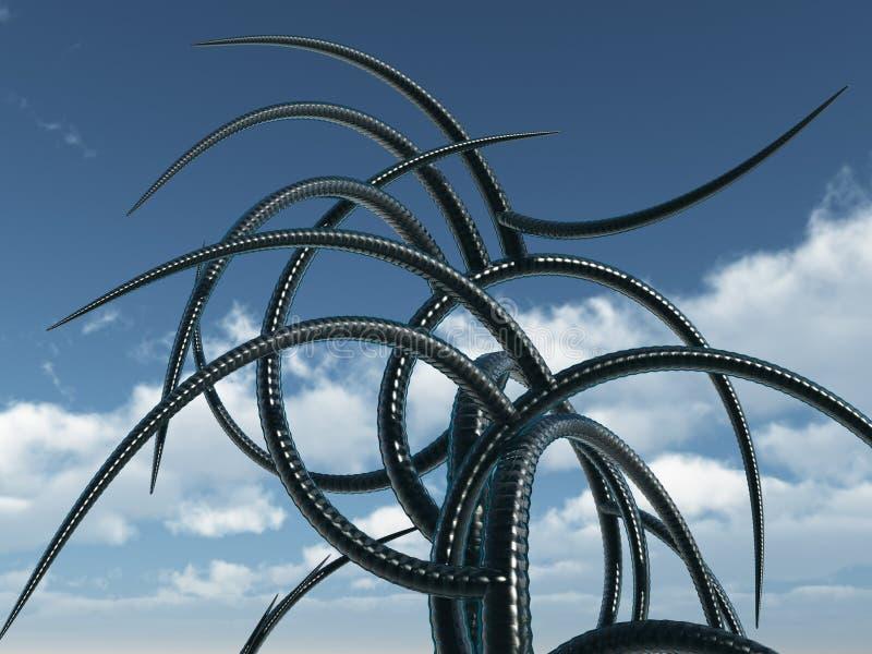 Tentáculos ilustração royalty free