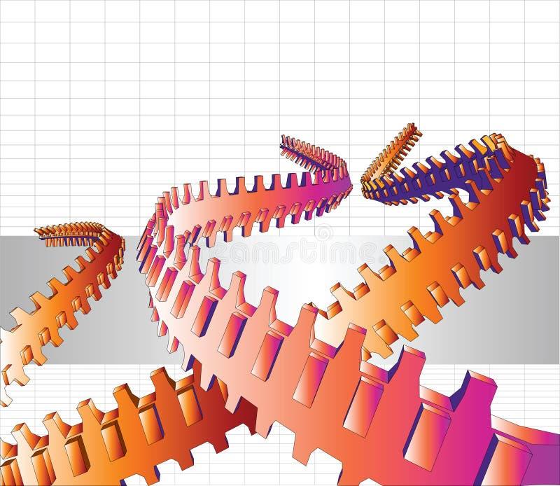 tentáculos de Techno do vetor 3D ilustração royalty free