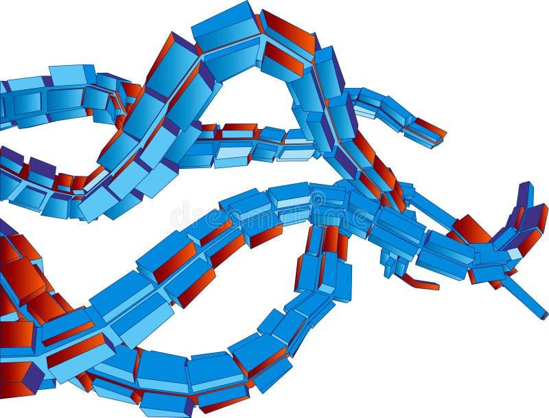 Download Tentáculos Futuristas Del Fondo Del Vector 3D Ilustración del Vector - Ilustración de clip, digital: 1298370