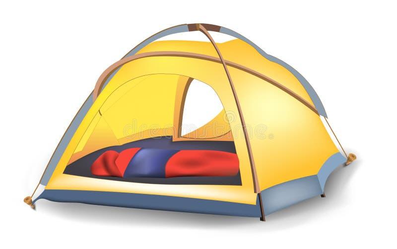 Tent stock illustration