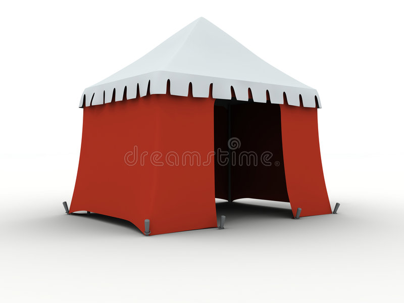 Download Tent stock illustration. Image of marquee, kiosk, bivouac - 7341253