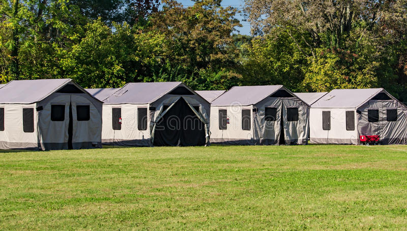 Tent Cabins royalty free stock images
