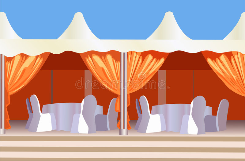 Tent cafe vector vector illustration