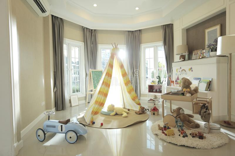 A tent in children room royalty free stock photos