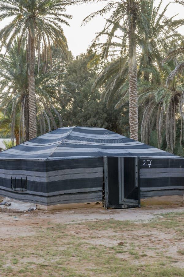 Tent in de Woestijn van de Sahara stock fotografie