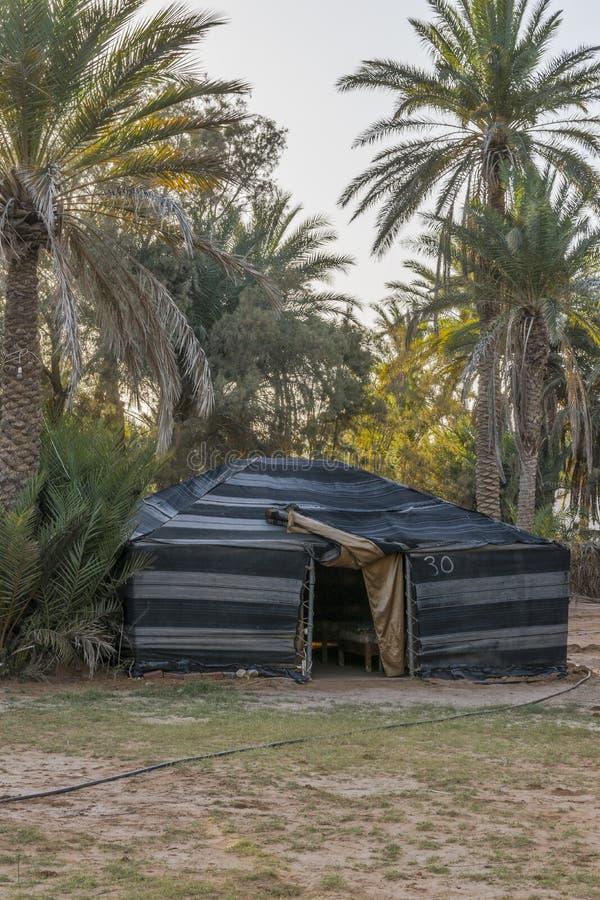 Tent in de Woestijn van de Sahara stock afbeelding