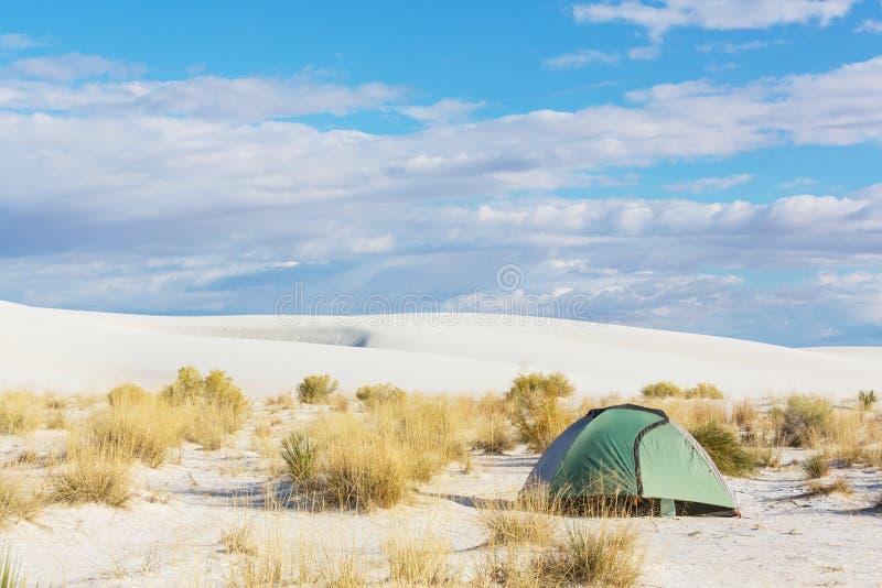 Tent in desert stock image