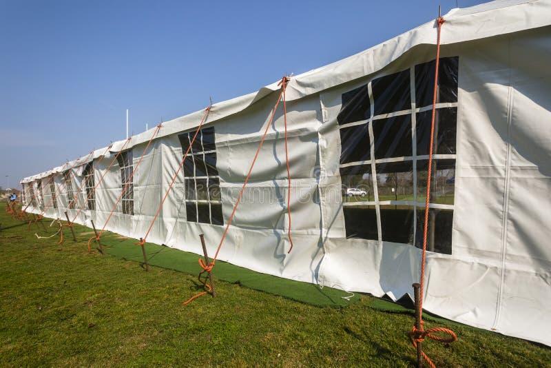 Tent Groot Wit stock foto's
