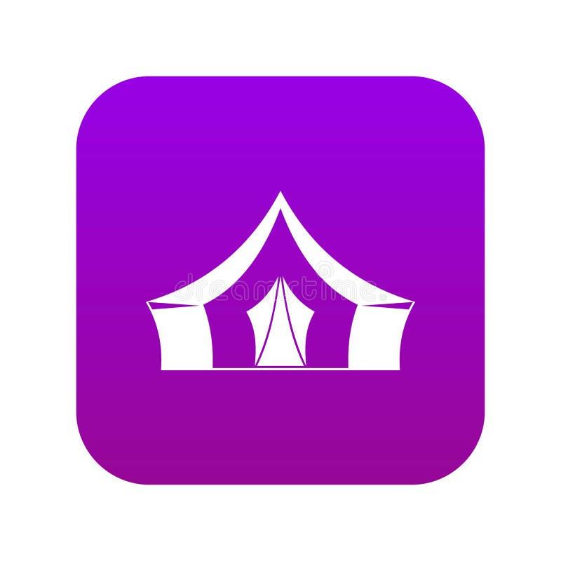 Tent, het kamperen digitale purple van het symboolpictogram stock illustratie