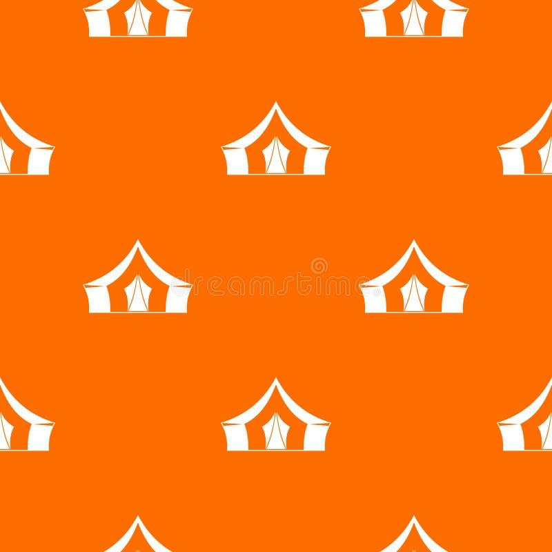 Tent, het kamperen naadloos symboolpatroon stock illustratie
