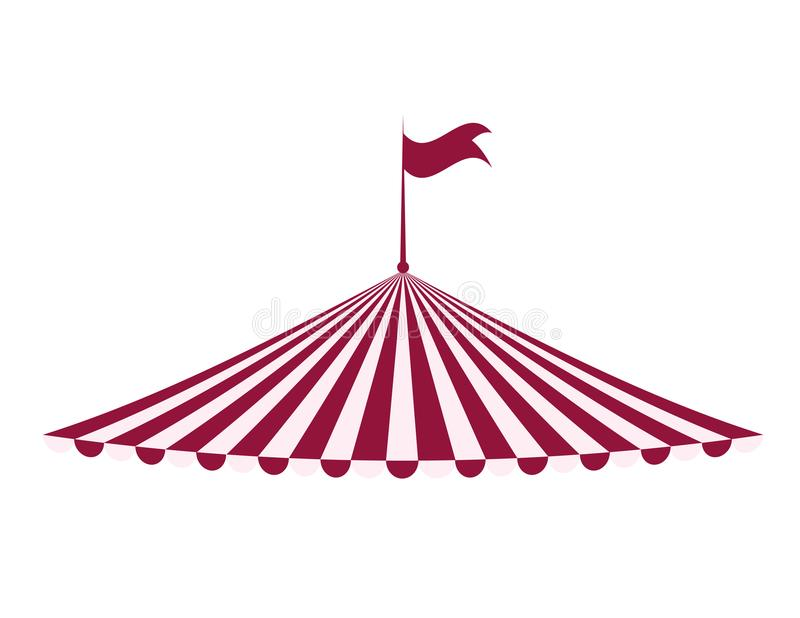 Tent icon. Circus and carnival design. Vector graphic royalty free illustration